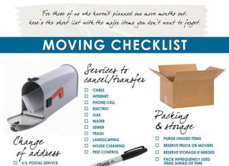 Moving Checking List for Done Right Moving Company